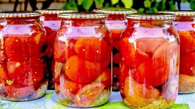 Горчично-чесночные маринованные помидоры