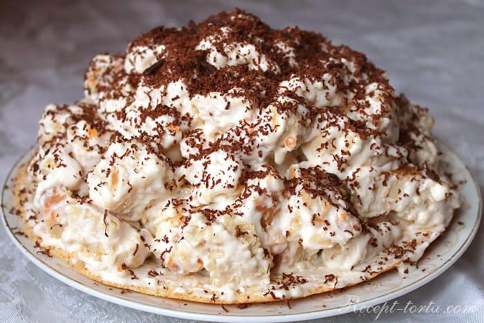 Интересный рецепт торта «Горка» со сметанным кремом и фруктами