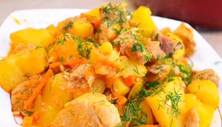 Жаркое с кабачками: диетическое блюдо без обжарки