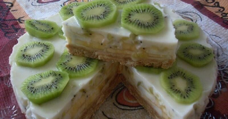 Йогуртовый торт без выпечки