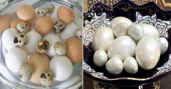 Как красиво покрасить перепелиные яйца в жемчужный цвет