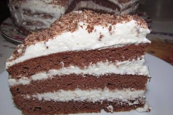 Как быстро приготовить шоколадный торт с кремом
