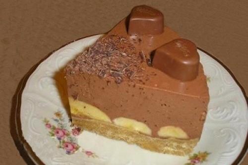 Как приготовить торт с бананово-шоколадным суфле без выпечки