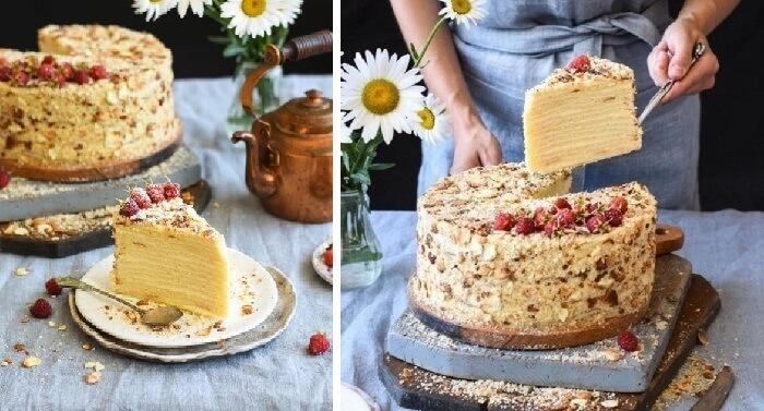 Как приготовить творожный торт Наполеон