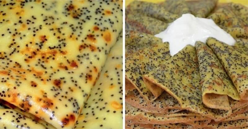 Как приготовить вкусные блины с маком