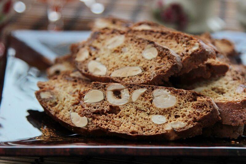 Кофейно-ореховое бискотти