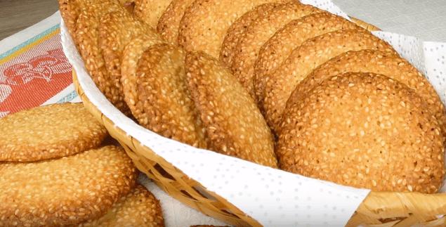 Кунжутное печенье за 15 минут