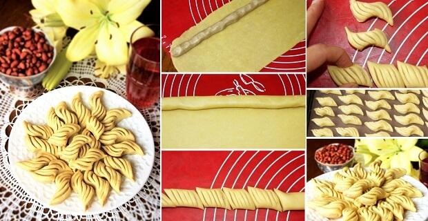 Марокканское печенье с арахисовой начинкой