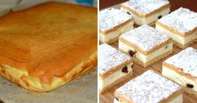 Наливной пирог с творогом: пошаговый рецепт