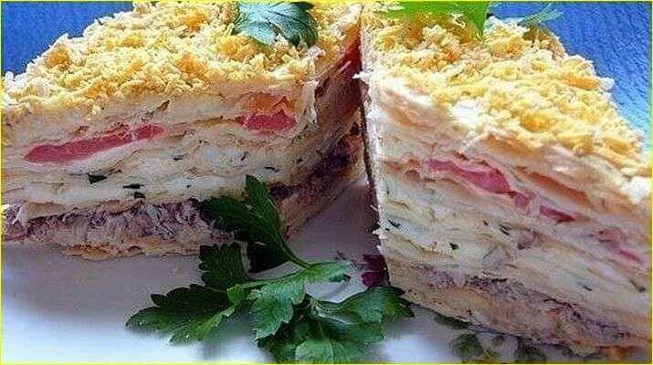 Наполеон закусочный рецепт с фото