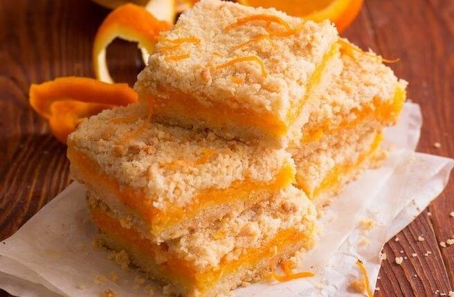 Насыпной пирог с тыквой рецепт с фото