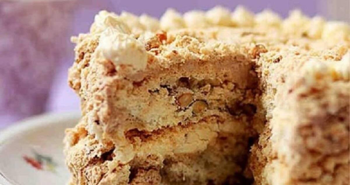 Диетический Киевский торт: пошаговый рецепт