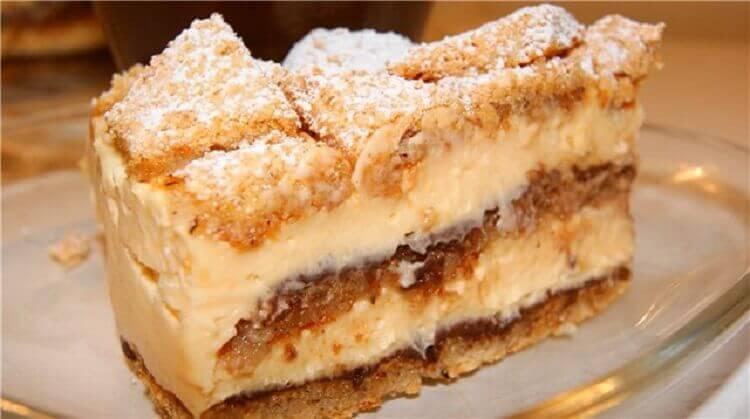 Орехово-лимонный торт без единого грамма муки!