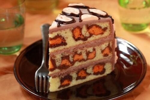Оригинальный «Леопардовый» торт