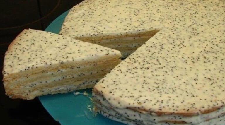 Оригинальный сметанный торт с маком