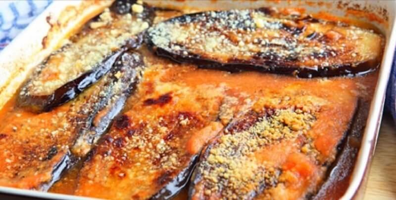 Рецепт легкого ужина из баклажанов