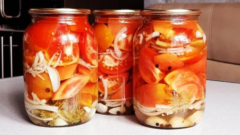 «Пальчики оближешь» рецепт консервированных  помидоров