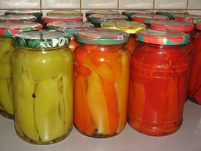 Как заготовить на зиму перец в маринаде
