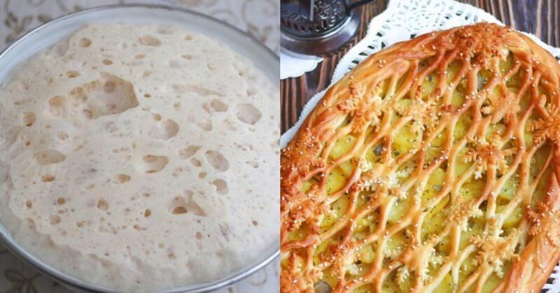 Пирог с картошкой из дрожжевого теста