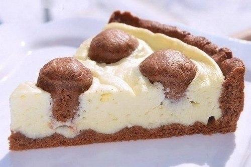 Пирог с творожным кремом