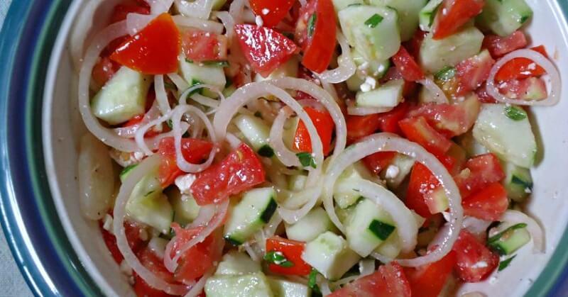 Простые диетические салаты