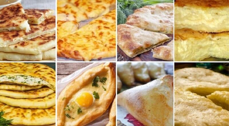 Рецепт хачапури с сыром в духовке - вкуснейшая выпечка из разного теста