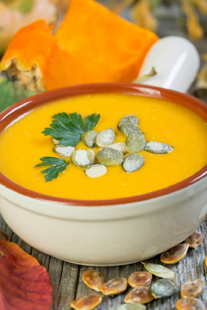 Рецепт приготовления французского тыквенного супа
