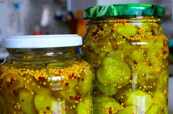 Рецепт засола огурцов с горчицей
