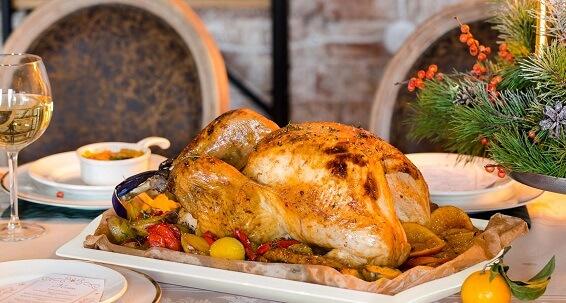 Рождественская индейка с печеной картошкой