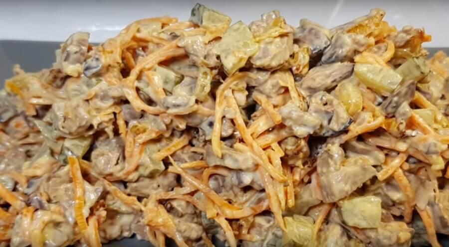 Салат «Идеальный» из печени: пошаговый рецепт