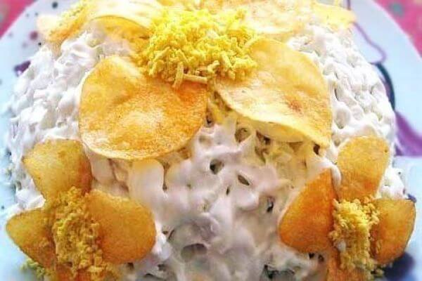 Салат «Орхидея» рецепт с фото