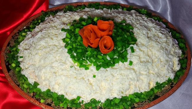 Салат «Снежка» пошаговый рецепт