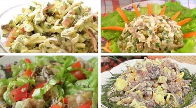 ТОП-10: лучшие грибные салатики на любой вкус!