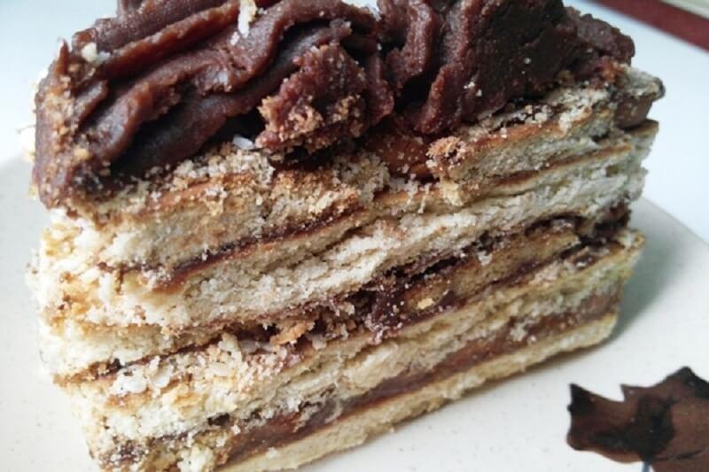 Самый вкусный и быстрый торт «Кофе с шоколадом» без выпечки из печенья