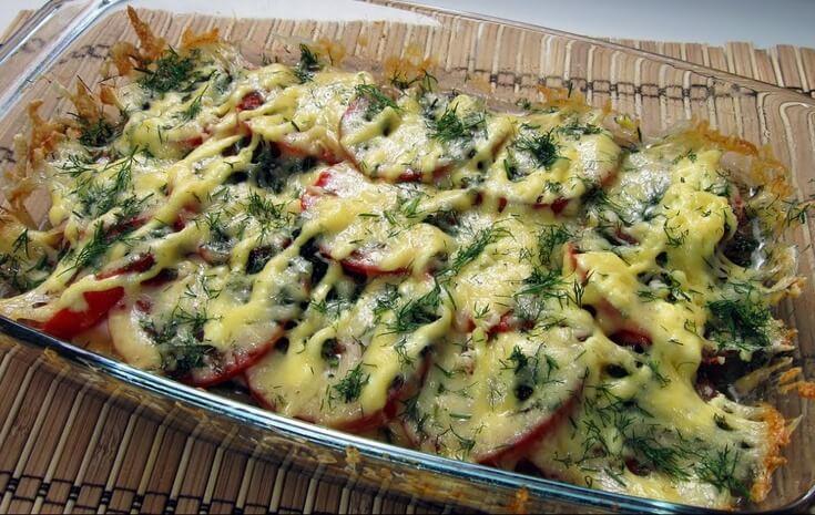 Вкусная и простая запеканка с курицей и овощами