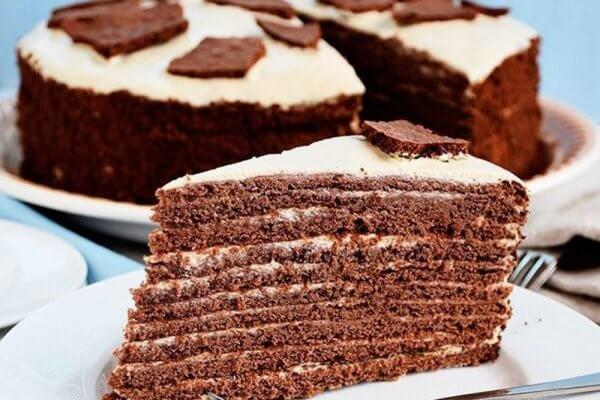 Шоколадно-медовый торт «Коровка»