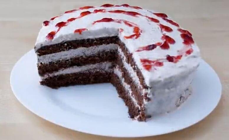 Шоколадный торт без выпечки за 10 минут!