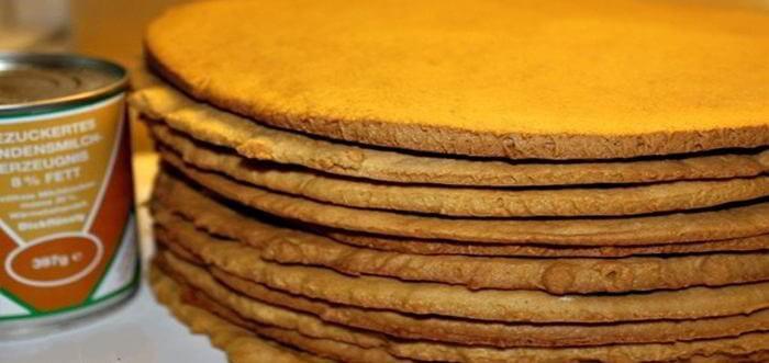 Сметанные коржи для торта