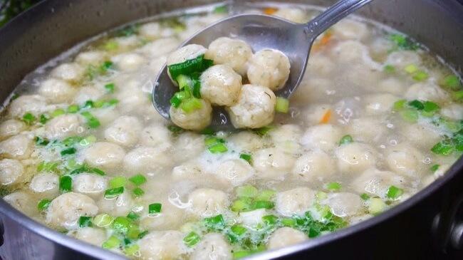 Суп с сырными шариками пошаговый рецепт