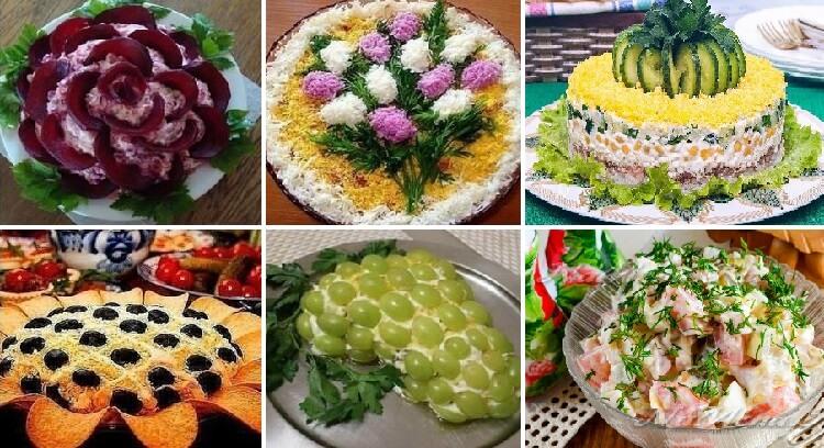 ТОП-10 самых вкусных салатов (лучшие рецепты)