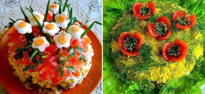 ТОП-6 рецептов великолепных салатов!