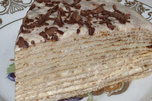 Торт из блинов с нежным кремом