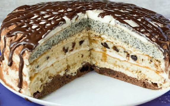 Торт «Королева» с маком: пошаговый рецепт