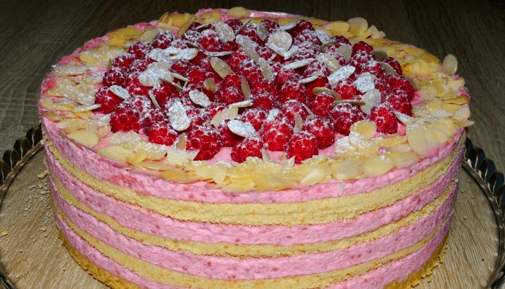 Торт «Розовая мечта» без выпечки