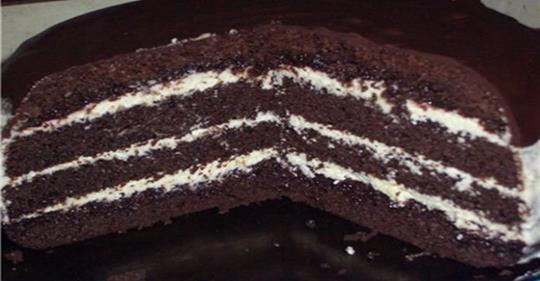 Торт «Шоколад на кипятке» готовится очень быстро