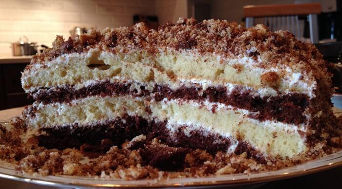 Торт «Сметанник» со сгущенкой пошаговый рецепт