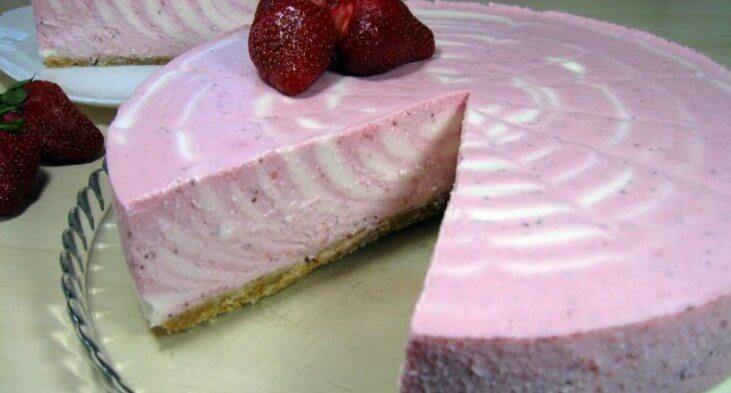 Творожный тортик без выпекания - просто тает во рту!