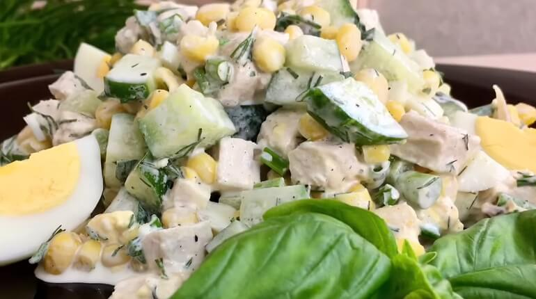 Весенний салат «Неразлучная парочка» пошаговый рецепт