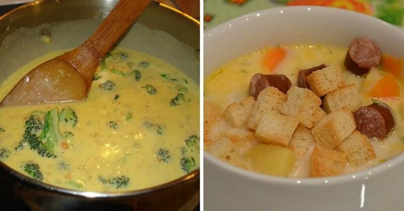 Виды сырных супов