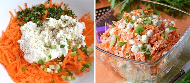 Витаминный салат из моркови